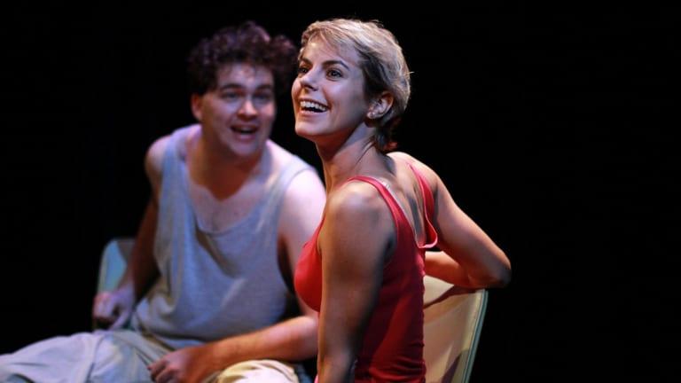 Matthew Cheetham and Francesca Savidge in <i>Kayak</i>.