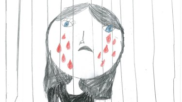 A self-portrait from a child in an offshore detention centre.