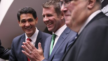 Premier Mike Baird in Parramatta for the Parramatta Chamber of Commerce, State of the City address. 13th March 2015 Photo: Janie Barrett  photo.JPG