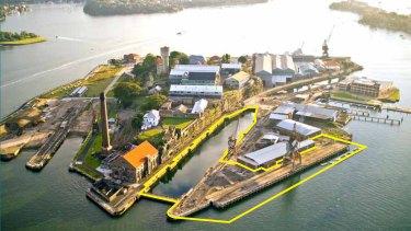 The proposed marina for  Cockatoo Island.