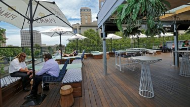 MELBOURNE, AUSTRALIA - JANUARY 19: The rooftop space at Imperial rooftop bar in the cbd on January 19, 2016 in Melbourne, Australia. (Photo by Wayne Taylor/Fairfax Media)