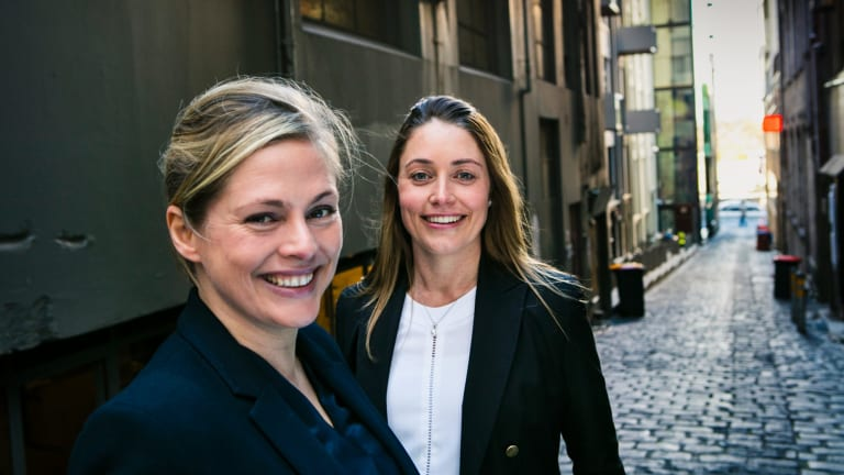 Lucy Lloyd and Heidi Holmes spotted the gap in the market for Mentorloop over a glass of wine.