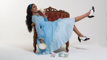 Dubs Yunupingu in Alice in Wonderland.
