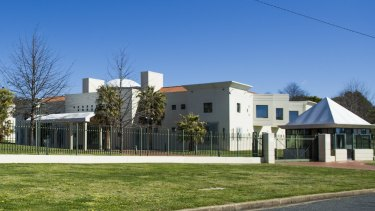Saudi Arabia's embassy in the Canberra suburb of Yarralumla.