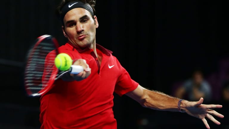 """""""The beauty of our game sometimes is not knowing if you're going to be on court for 45 minutes or three hours"""": Swiss ace Roger Federer."""