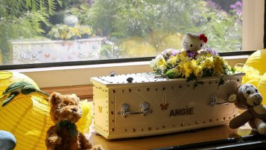 Baby Angie's coffin.