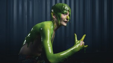Electronic music producer Rhys Toms gets ready for his Slimefest performance.