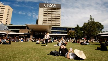 Rising fast: the University of NSW has risen 64 places since 2011.