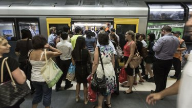 Patronage on Sydney's train network has surged over the past year, placing greater urgency on plans for public transport such as a new metro line between Sydney's CBD and Parramatta.