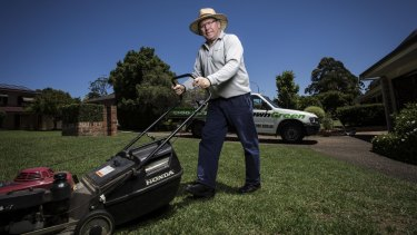 Gerry Faehrmann earns money from e-books about running a lawn-mowing business.