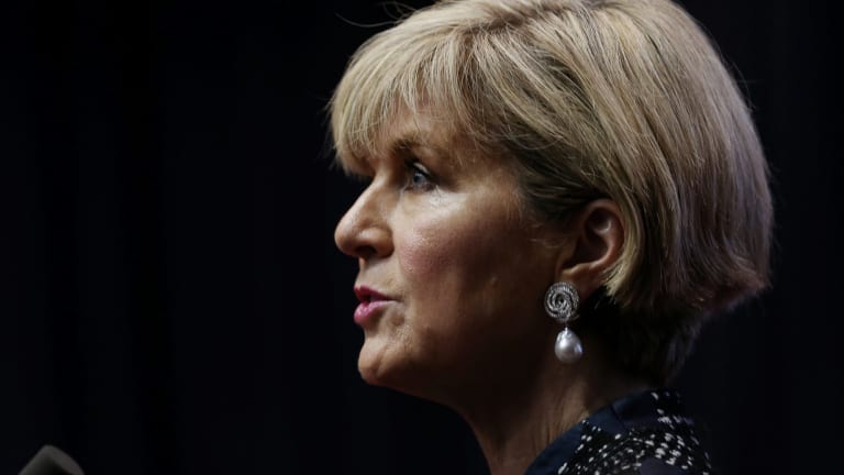 """""""It is up to him to explain the differences between his opinion then and his opinion now,"""" Julie Bishop said about Abbott's speech."""