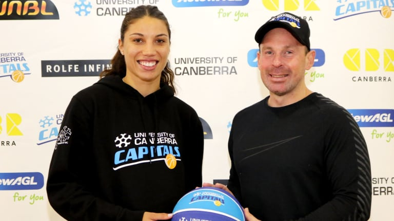Chevannah Paalvast has linked up with Paul Goriss at the Canberra Capitals.