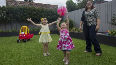 Every chance: Daniella Di Santo with daughters Sienna, 5, and Verona, 3.