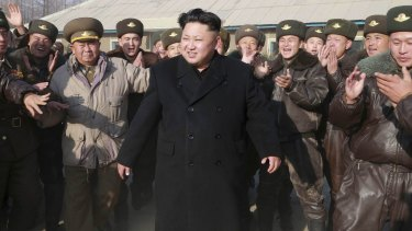 North Korean leader Kim Jong-un inspects the KPA Air and Anti-Air Force Unit 991.