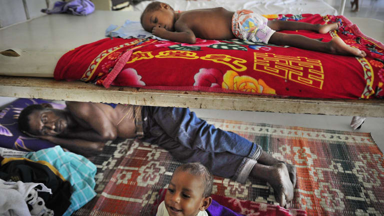 Patients suffering from tuberculosis at the paediatric ward of the Port Moresby hospital in 2009.