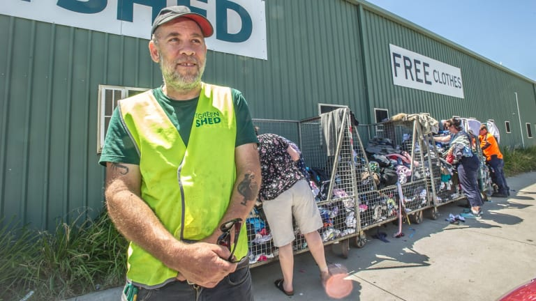 Almost six tonnes of clothing were dumped over the weekend at just one of the Green Shed's drop-off points in Mitchell.
