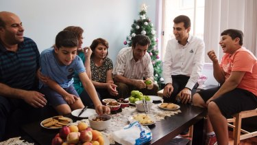 Last year, the Khaieo family was waiting for approval to come to  Australia as refugees. Now the  Christian Syrian family are spending their first Christmas in Australia.