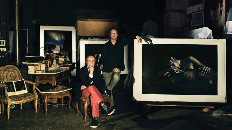 Bill Henson and Richard Tognetti in the artist's stuio.