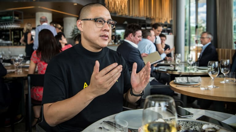 Merivale's executive chef Dan Hong said the restaurant trade 'is like going into war. I love it.'