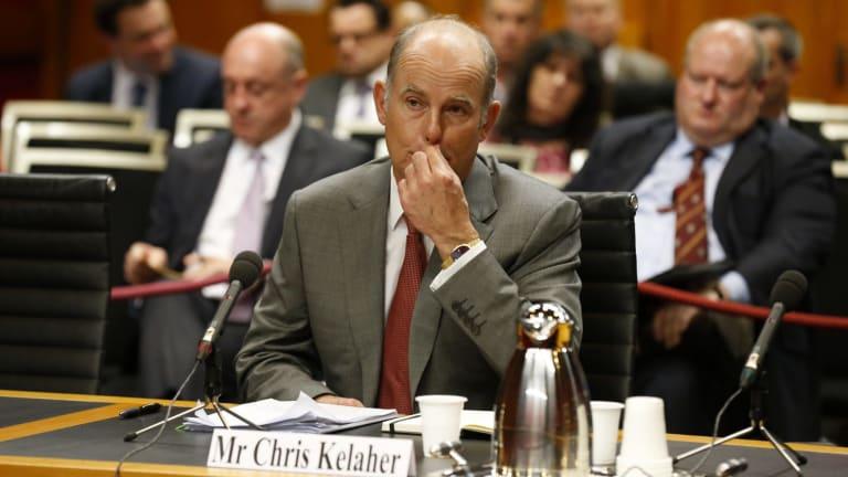 IOOF chief executive Chris Kelaher at the Senate hearing.