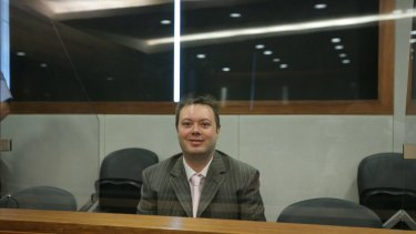 Carl Williams in the Melbourne County Court in May, 2007, when he was sentenced to life with a minimum term of 35 years over the murders of gangland patriarch Lewis Moran, his son Jason Moran and another underworld figure, Mark Mallia.