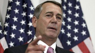 Former speaker John Boehner has a longstanding feud with Mr Cruz.