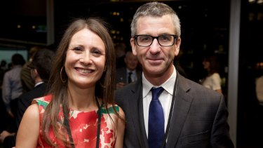 Jewel Topsfield with Darren Goodsir, editor-in-chief of <i>The Sydney Morning Herald</i>.