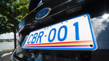 The new rainbow number plate.