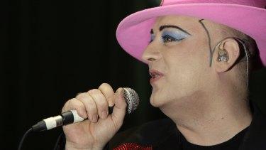 Boy George onstage in London in 2008.