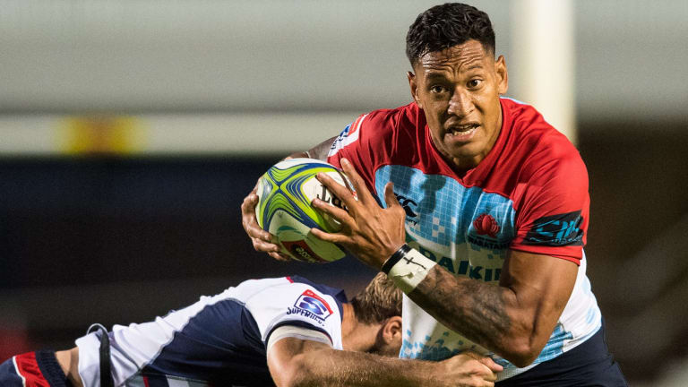 Power player: Waratahs and Brumbies star Israel Folau.