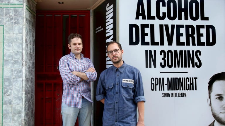 Nathan Besser and David Berger are co-owners of alcohol delivery service Jimmy Brings.