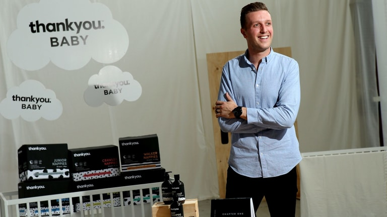 Daniel Flynn, co-founder and managing director of social enterprise Thankyou, is set to launch a new line of nappies and baby products.