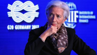 Christine Lagarde, managing director of the IMF.