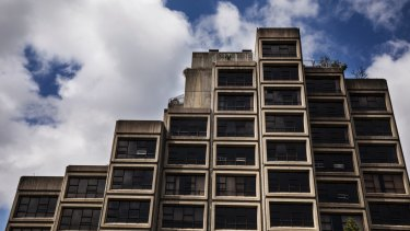 The Sirius building, at 48 Cumberland Street, The Rocks, is a fine example of brutalist architecture.