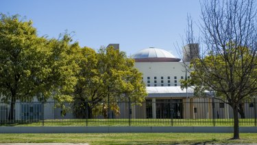 The embassy of Saudi Arabia in Canberra.