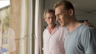 Hugh Laurie and Tom Hiddleston in John le Carre's post-Cold War thriller The Night Manager.