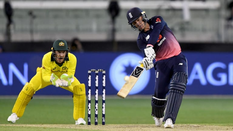 Jason Roy on his way to a record-breaking 180.
