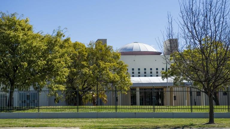 The embassy of Saudi Arabia in Canberra.