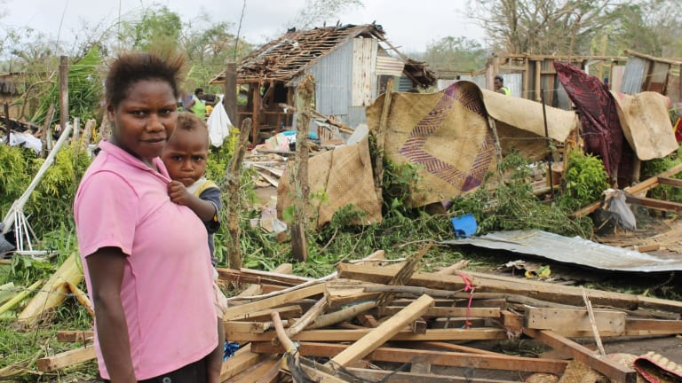 Our region is most susceptible to devastating cyclones: devastation in Vanuatu after Cyclone Pam.