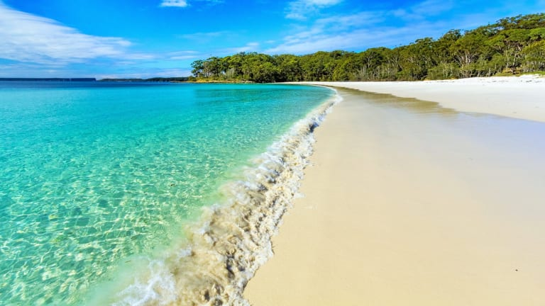 Green Patch, one of Jervis Bay's better-known white sandy beaches.