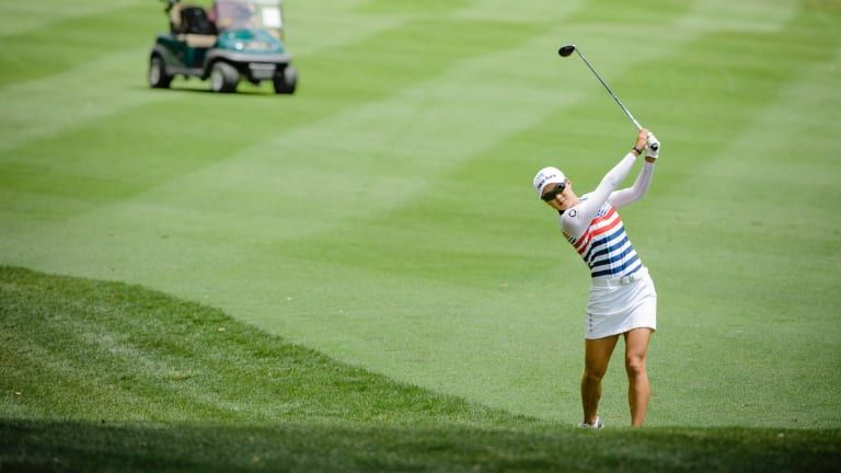 Australian golfer Minjee Lee leads the Canberra Classiic.