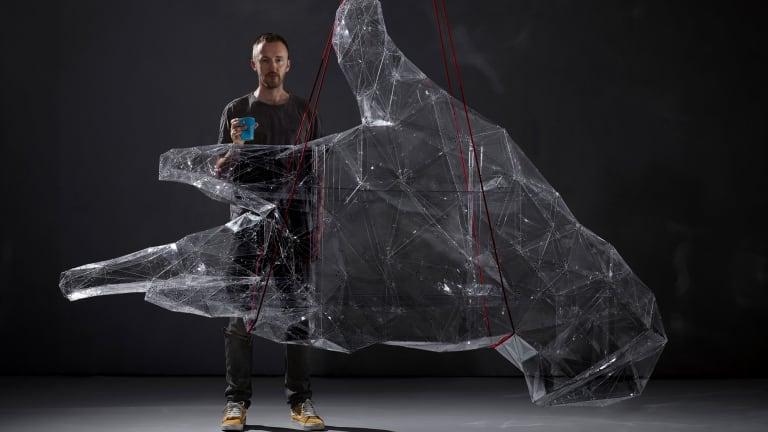 Toby Ziegler with <i>The Human Engine</i>, 2018. Courtesy of the artist (Toby Ziegler Studio)