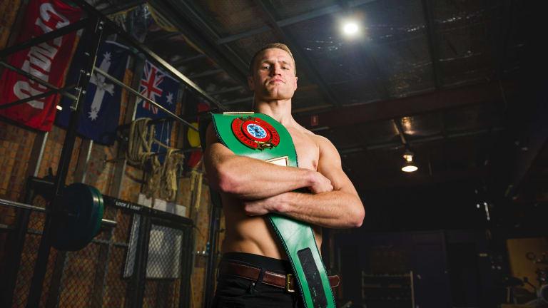 Canberra boxer Dave Toussaint has a new belt.