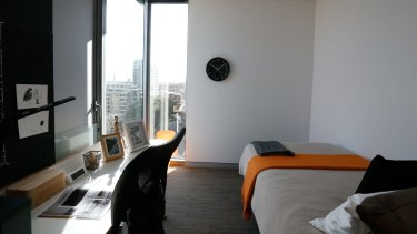 The UniLodge charges students $340 a week for 13 square metres in an apartment shared with six others.