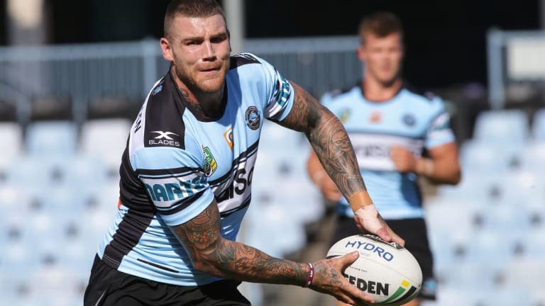 New colours: Josh Dugan in action against Wigan on Wednesday.