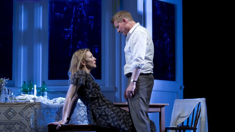 Richard Roxburgh and Cate Blanchett in <i>The Present</i>, now in New York.
