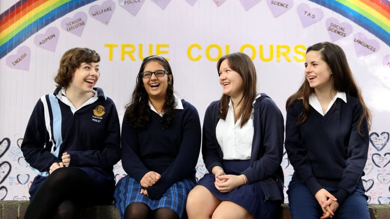 Students at Burwood Girls High School are among those who participate in the Proud Schools program.