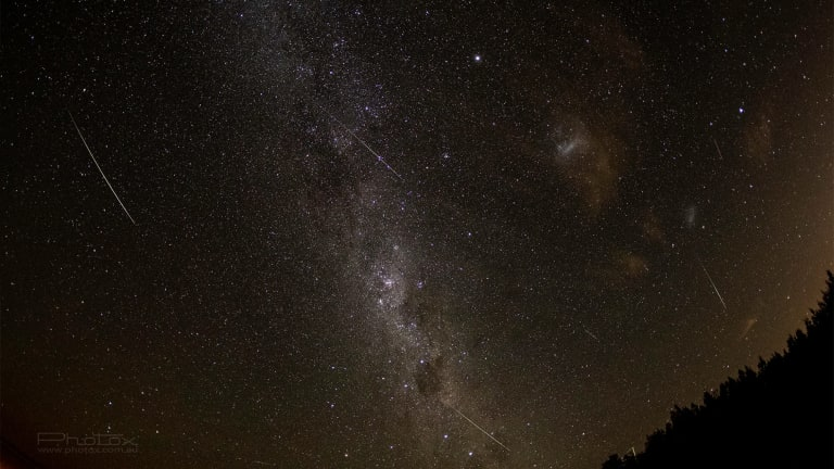 Canberra photographer Ben Appleton of Photox was out last night until 4am capturing the meteor shower.
