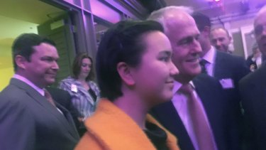 Zoe Hannam with Prime Minister Malcolm Turnbull.
