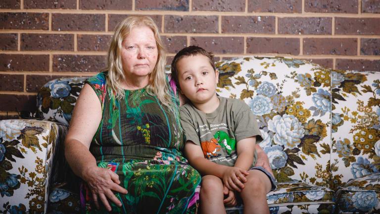Sue Lillywhite and her grandson Janardan were at Lake Ginninderra on Christmas Day when tragedy struck.